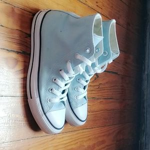 Light Blue High Top Converse